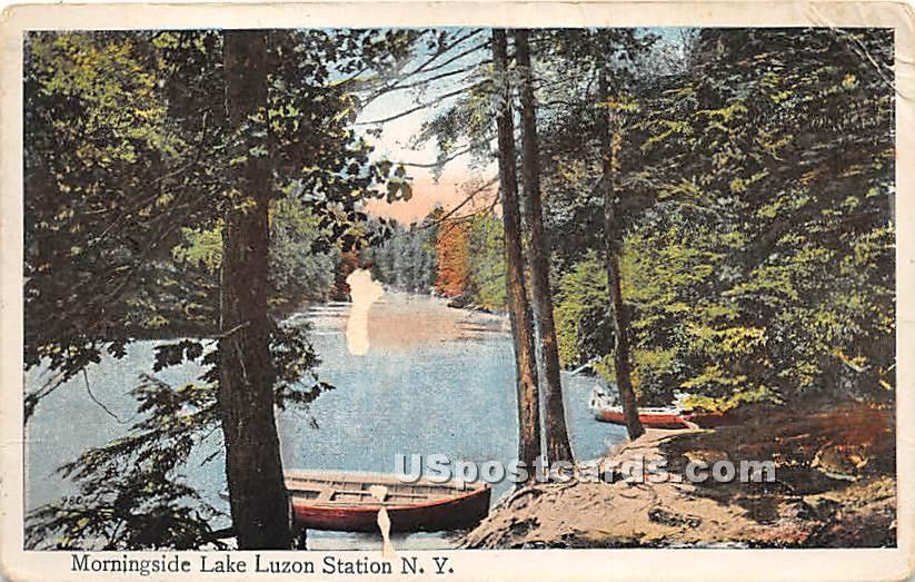 Morningside Lake - Hurleyville, New York NY Postcard