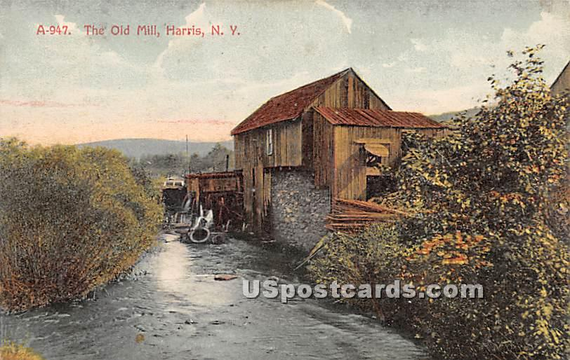 Old Mill - Harris, New York NY Postcard