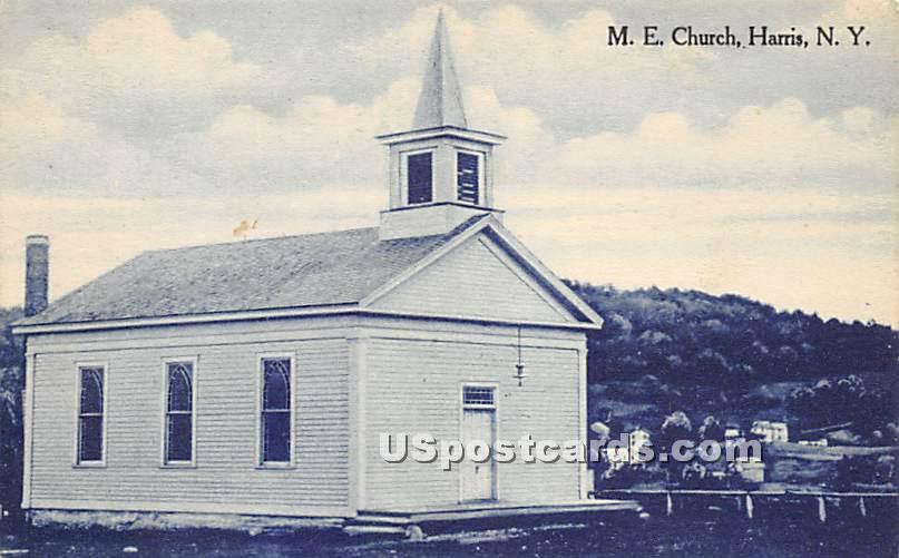 M E Church - Harris, New York NY Postcard