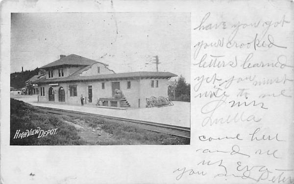 Depot High View, New York Postcard