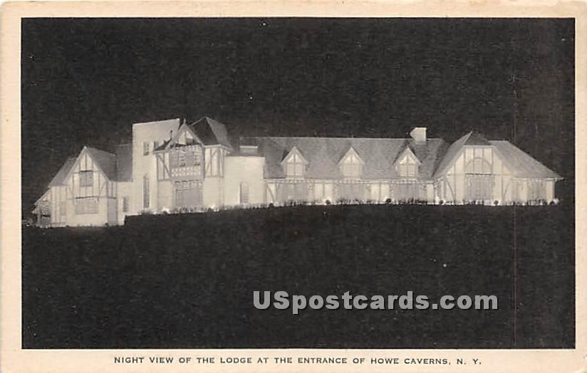 Lodge - Howe Caverns, New York NY Postcard