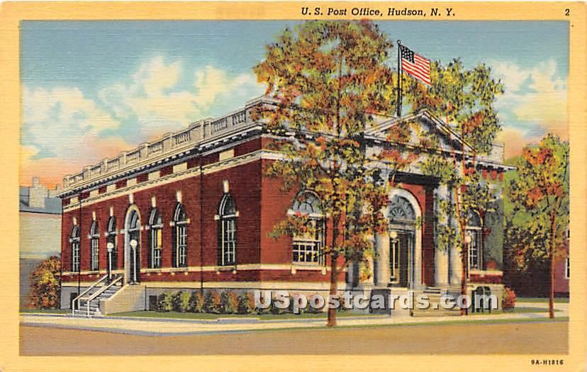 US Post Office - Hudson, New York NY Postcard