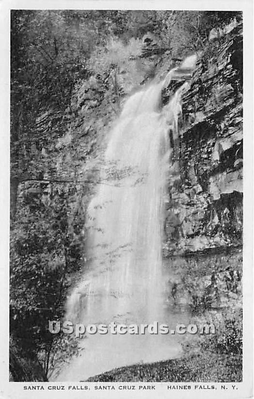 Santa Cruz Falls, Park - Haines Falls, New York NY Postcard