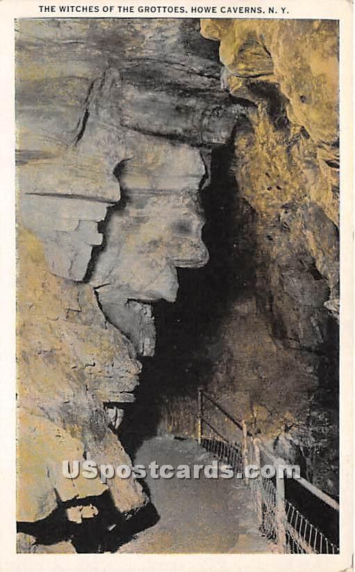 Witches of the Grottoes - Howe Caverns, New York NY Postcard