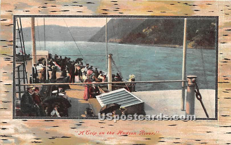 A Trip - Hudson RIver, New York NY Postcard