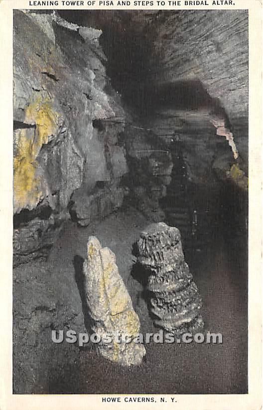 Leaning Tower of Pisa - Howe Caverns, New York NY Postcard