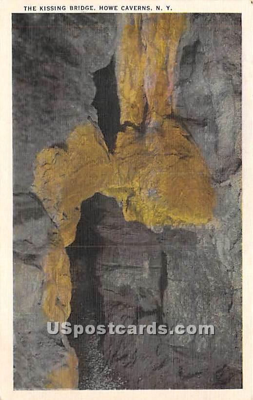 The Kissing Bridge - Howe Caverns, New York NY Postcard