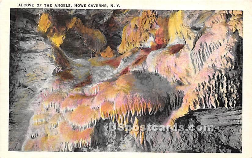 Alcove of the Angels - Howe Caverns, New York NY Postcard
