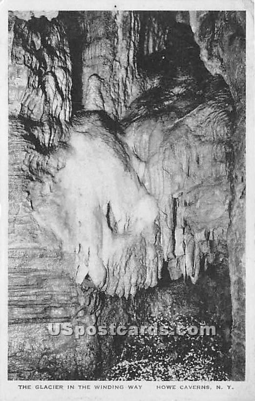 Glacier in the Winding Way - Howe Caverns, New York NY Postcard