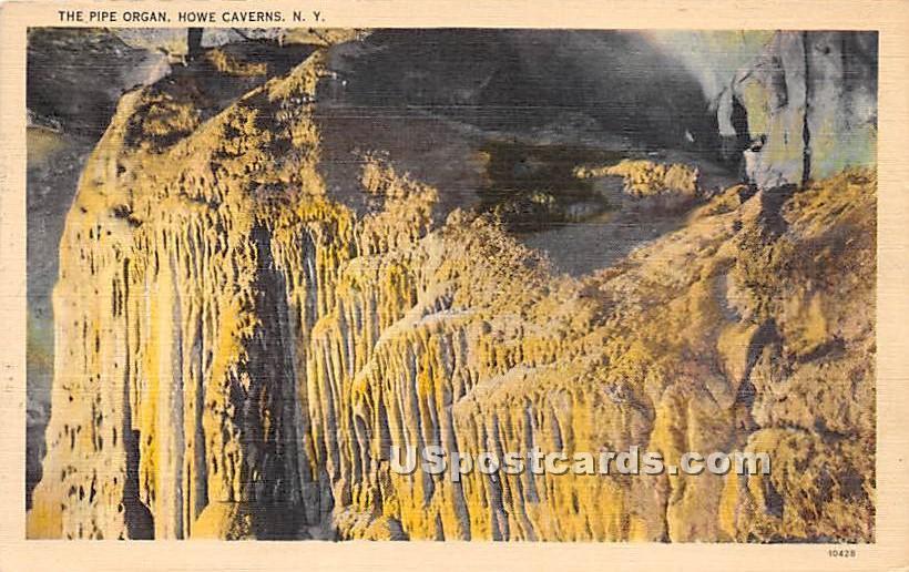 Pipe Organ - Howe Caverns, New York NY Postcard