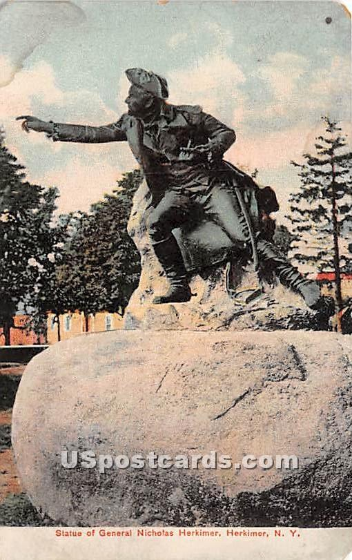 Statue of General Nicholas Herkimer - New York NY Postcard