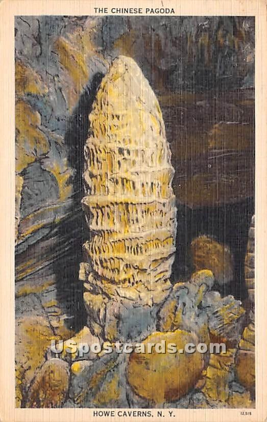 Chinese Pagoda - Howe Caverns, New York NY Postcard