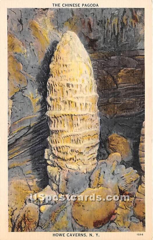 Chinese Pagoda - Howe Caverns, New York NY Postcard