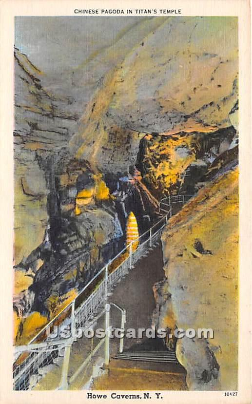 Chinese Pagoda, Titan's Temple - Howe Caverns, New York NY Postcard