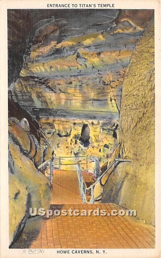 Titan's Temple - Howe Caverns, New York NY Postcard