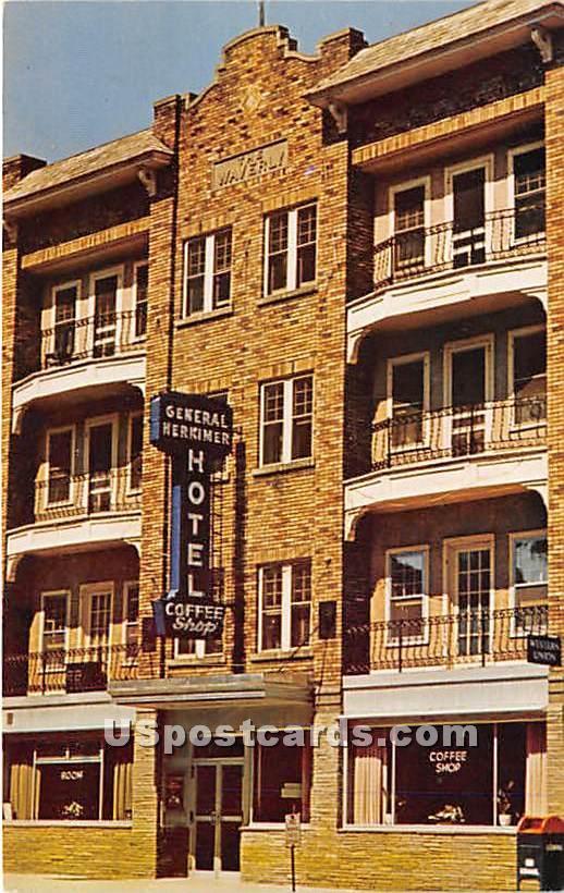 General Herkimer Hotel Inn Towne Motel - New York NY Postcard
