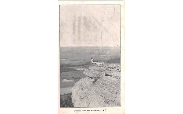 Outlook Helderberg Mountains, New York Postcard