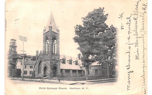 Christ Episcopal Church Herkimer, New York Postcard