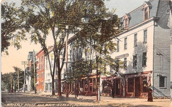 Waverly House & Main Street Herkimer, New York Postcard