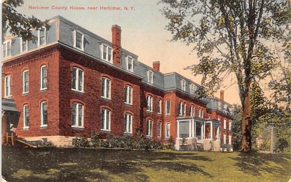 Herkimer County House New York Postcard