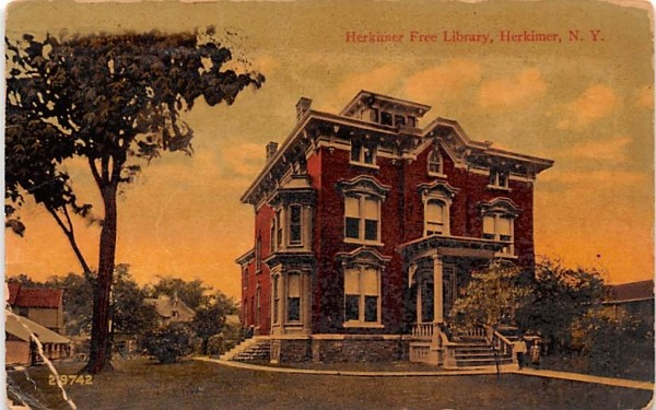 Herkimer Free Library New York Postcard