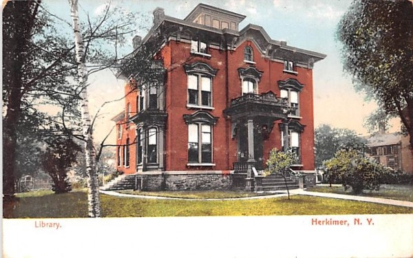 Library Herkimer, New York Postcard