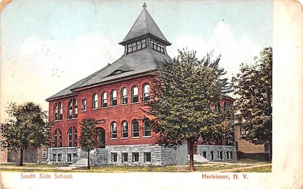 South Side School Herkimer, New York Postcard
