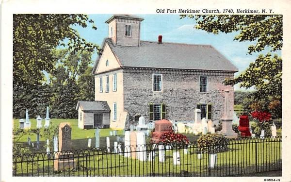 Old Fort Herkimer Church New York Postcard