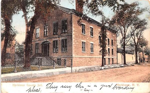 Herkimer County Jail New York Postcard