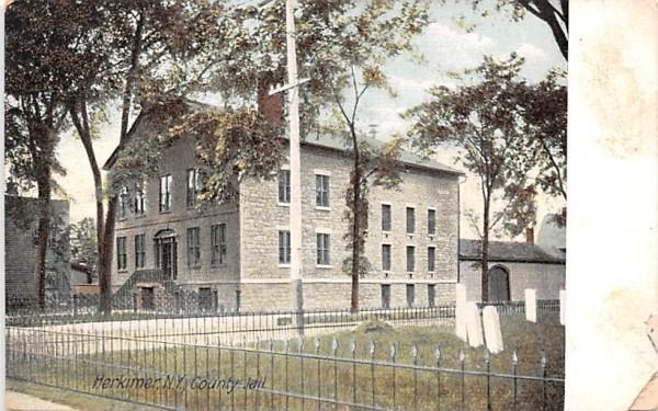 County Jail Herkimer, New York Postcard