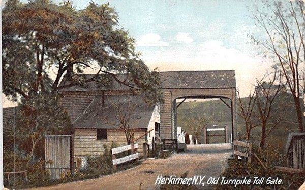 Old Turnpike Toll Gate Herkimer, New York Postcard