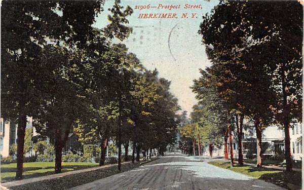 Prospect Street Herkimer, New York Postcard