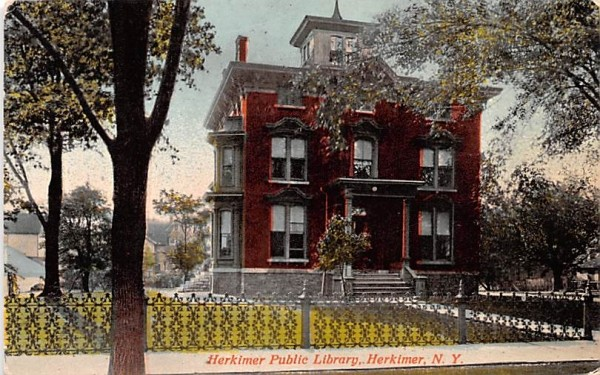 Herkimer Public Library New York Postcard
