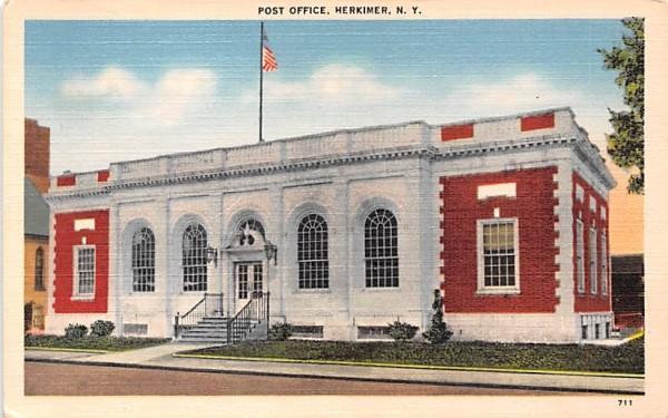 Post Office Herkimer, New York Postcard