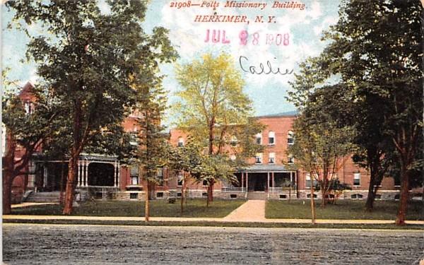 Folts Missionary Building Herkimer, New York Postcard
