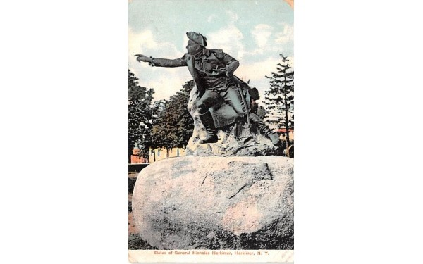 Statue of General Nicolas Herkimer New York Postcard