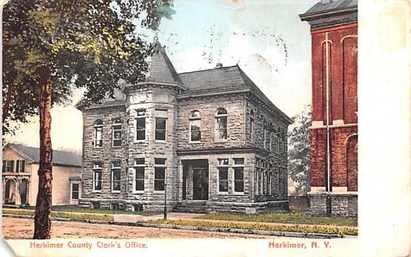 Herkimer County Clerk's Office New York Postcard