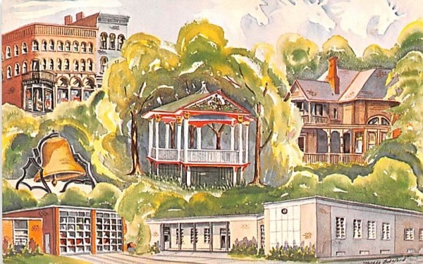 Composite Watercolor by Talitha Botsford Horseheads, New York Postcard