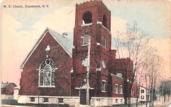ME Church Horseheads, New York Postcard