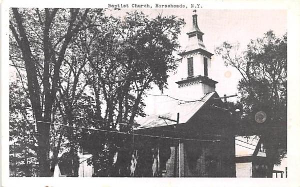 Baptist Church Horseheads, New York Postcard
