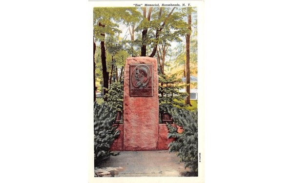 Zim Memorial Horseheads, New York Postcard