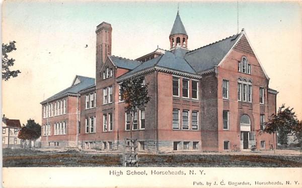 High School Horseheads, New York Postcard