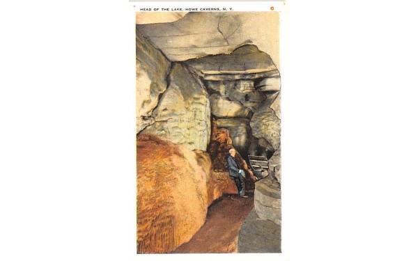 Head of the Lake Howe Caverns, New York Postcard