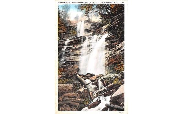 Buttermilk Falls Howe Caverns, New York Postcard