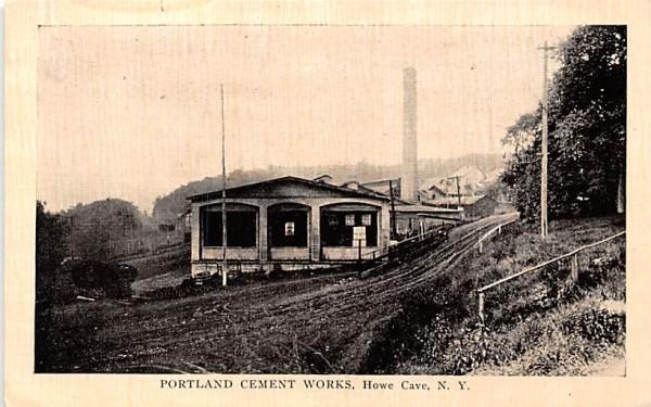 Portland Cement Works Howe Caverns, New York Postcard