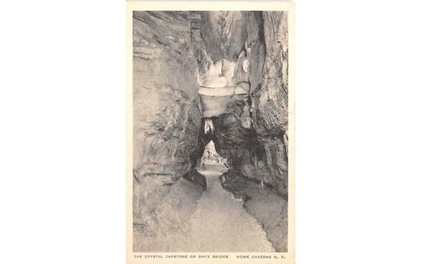 Crystal Capstone Howe Caverns, New York Postcard