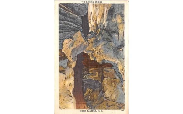 Kissing Bridge Howe Caverns, New York Postcard