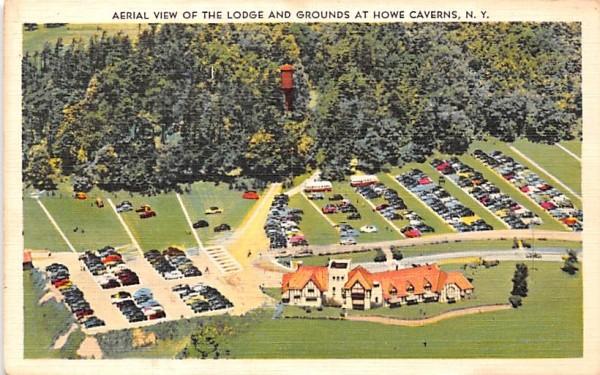 Lodge & Grounds Howe Caverns, New York Postcard