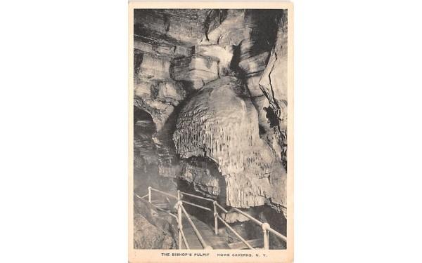 Bishop's Pulpit Howe Caverns, New York Postcard