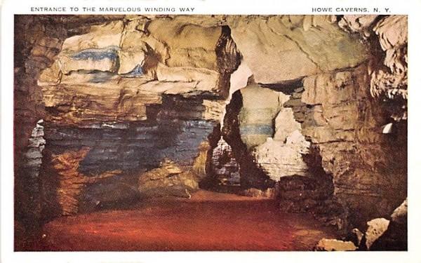 Marvelous Winding Way Howe Caverns, New York Postcard